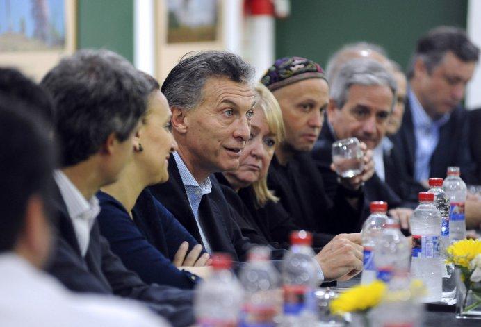 El Presidente electo Mauricio Macri presenta su Gabinete. Foto: Télam.