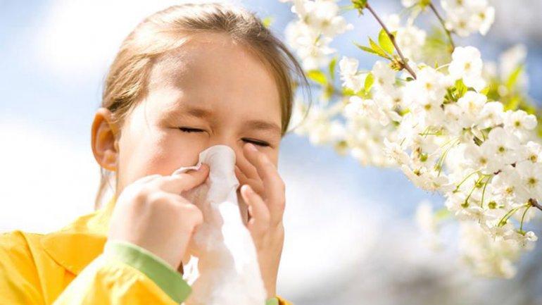 Los niños son los más afectados por las alergias.