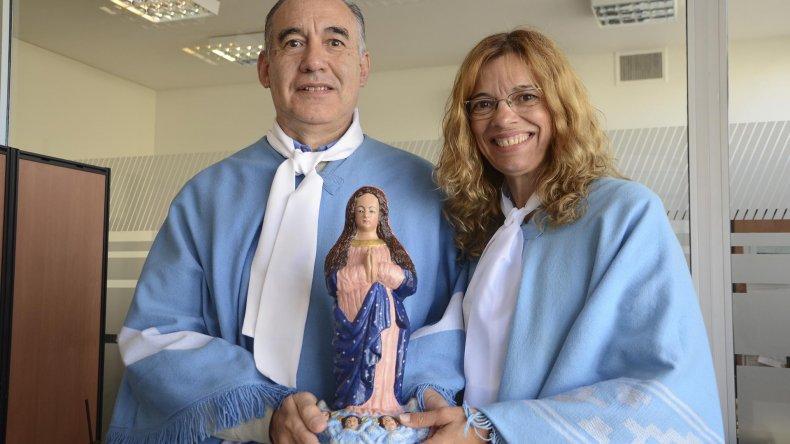 Los devotos de la virgen de Luján visitaron esta ciudad y se entrevistaron con el obispo.