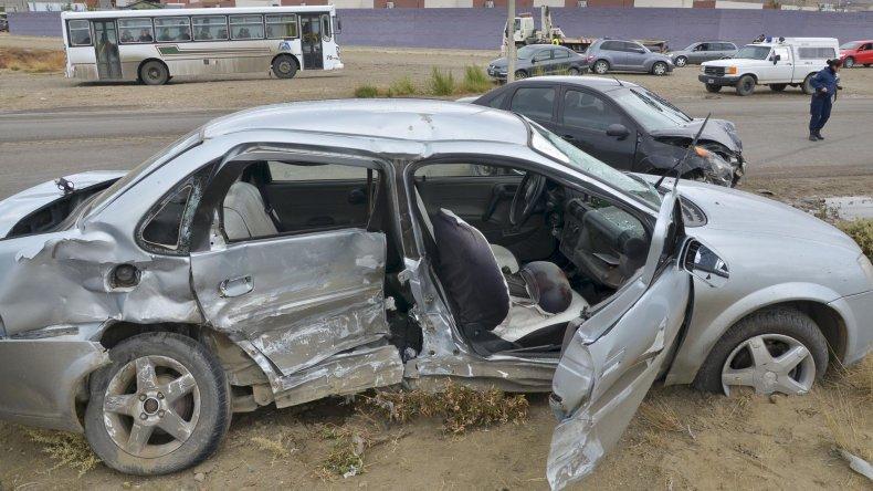 Uno de los accidentes ocurridos este año en Comodoro Rivadavia donde se registraron víctimas fatales.
