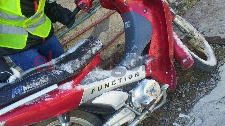 Sustrajeron moto del patio de una casa de zona norte