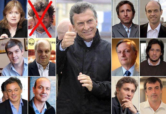 Llaman la atención sobre la composición empresaria de los funcionarios que rodearán el gobierno de Macri.