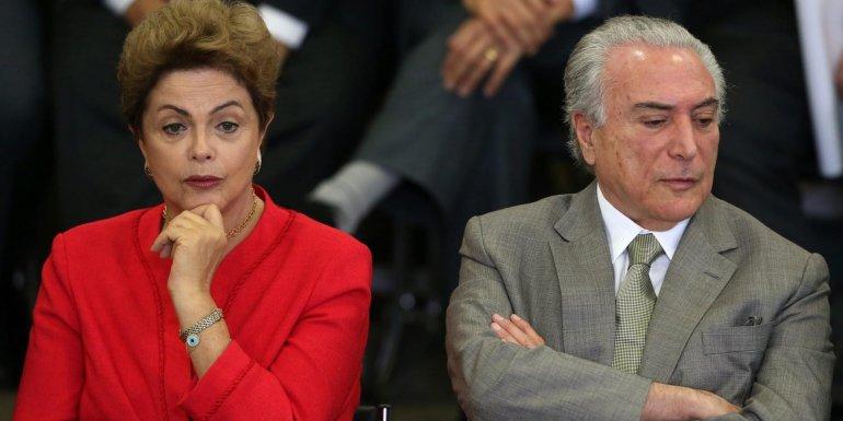 El distanciamiento entre Dilma Rousseff y Michel Temer.