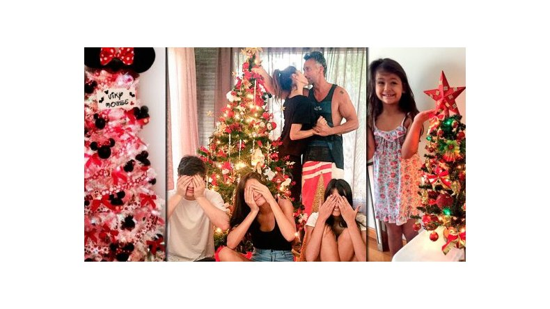 Los famosos armaron sus árboles de Navidad