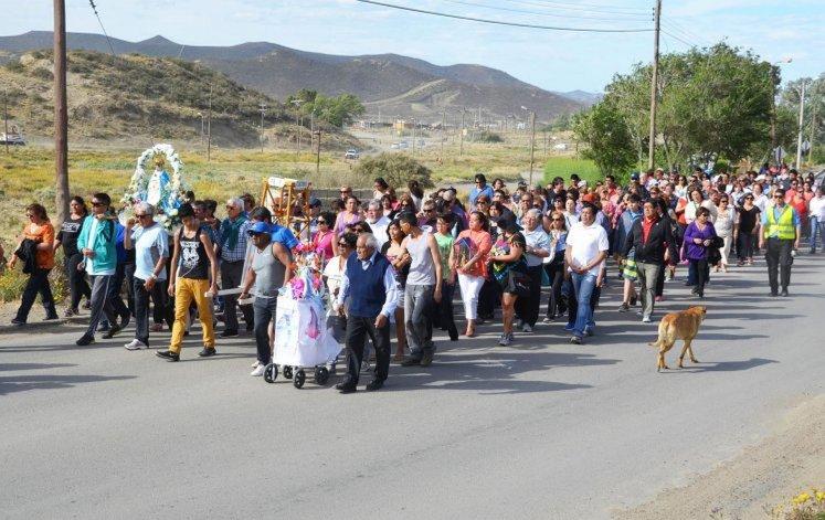 En Laprida se realizó la procesión por el Día de la Inmaculada Concepción de María