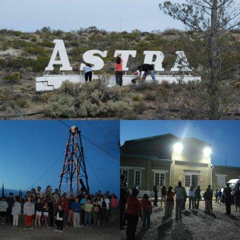 Vecinos de Astra embellecen el barrio para festejar sus 103 años