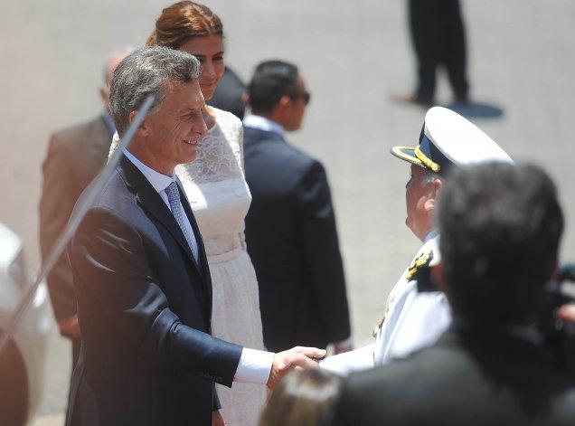 Macri saludó a los mandatarios en la Cancillería