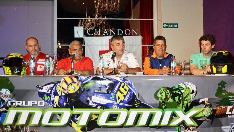 Ayer se realizó la presentación de la última fecha del campeonato de Motos de Velocidad.