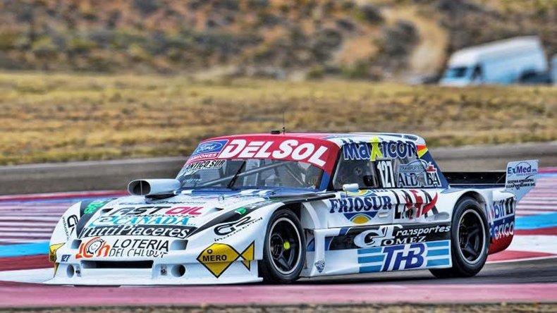 El Ford Falcon de Marcelo Agrelo que hoy inicia la actividad para la última fecha del campeonato de TC Pista.