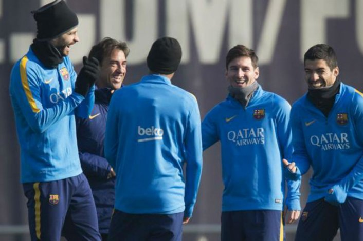 Messi volvió a los entrenamientos