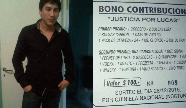 La familia de Lucas Díaz vende rifas para poder pagar el abogado