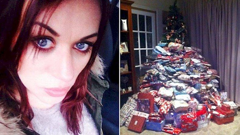 Compró 300 regalos de Navidad  y llovieron las críticas en Facebook