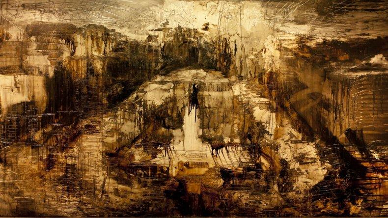 Obra de Fernanda Piamontirealizadas en técnica mixta con petróleo