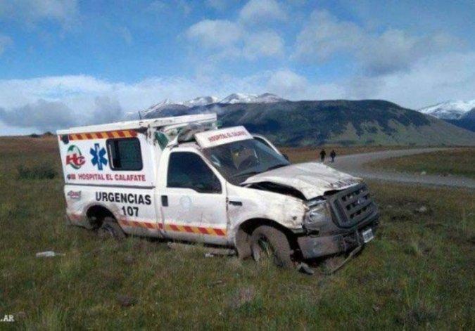 La ambulancia sustraída en un CIC ubicado en la zona céntrica de El Calafate