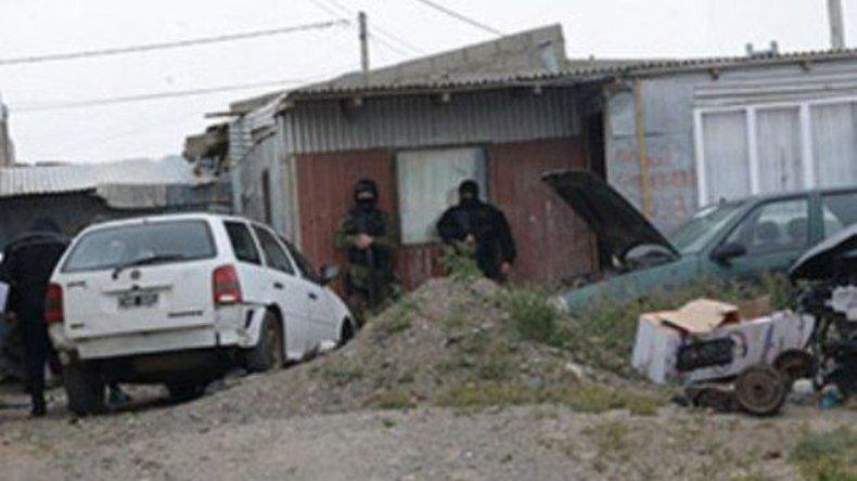 La vivienda allanada por personal de las divisiones Narcocriminalidad y Fuerzas Especiales
