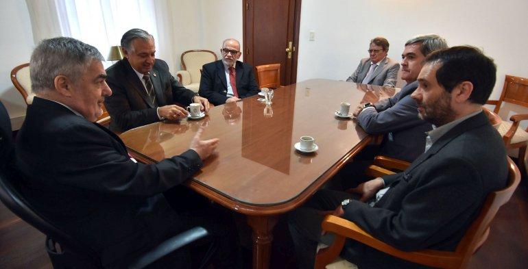 Das Neves abordó cuestiones presupuestarias con los magistrados