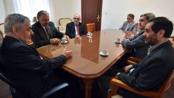 Das Neves y los ministros del Superior Tribunal de Justicia, que reiteraron su demanda de mayor presupuesto.