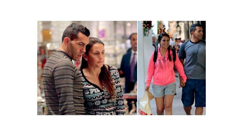 Las vacaciones de Carlos Tevez y su mujer en Miami