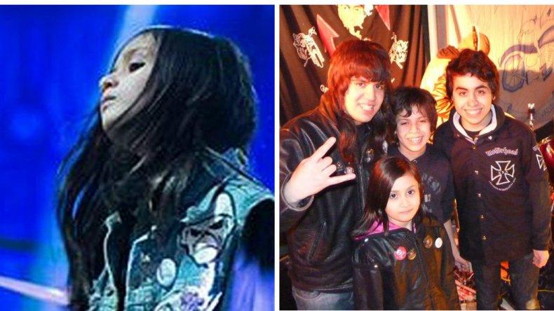 Con 10 años Barby se convierte en la voz del metal en la Patagonia