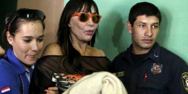 Moria Casán va presa a una cárcel de mujeres