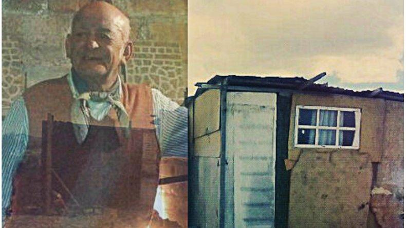 Tiene 82 años construyó un refugio para pescaderos y se lo destruyeron