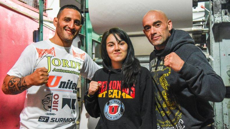 El Pitbull Martínez visitó El Patagónico junto a Nicole y Daniel Alvar.