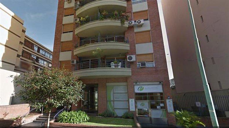 El edificio donde López Rossi asesinó a su mujer.