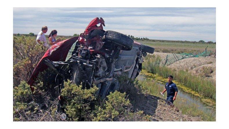 Accidente en ruta 7. Foto: Radio 3 Cadena Patagonia.