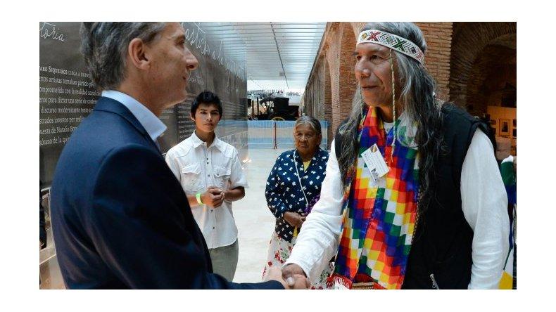 Macri se reunió con el líder de la comunidad Qom