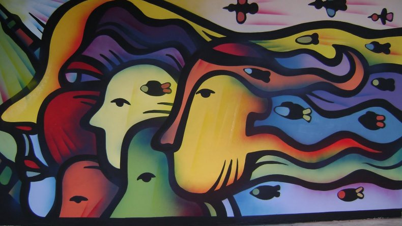 Mural del artista Mono Gonzalez.