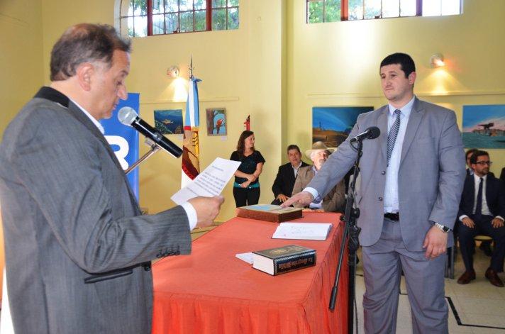 Los nuevos funcionarios cumplieron con su juramento ayer en el Ceptur.