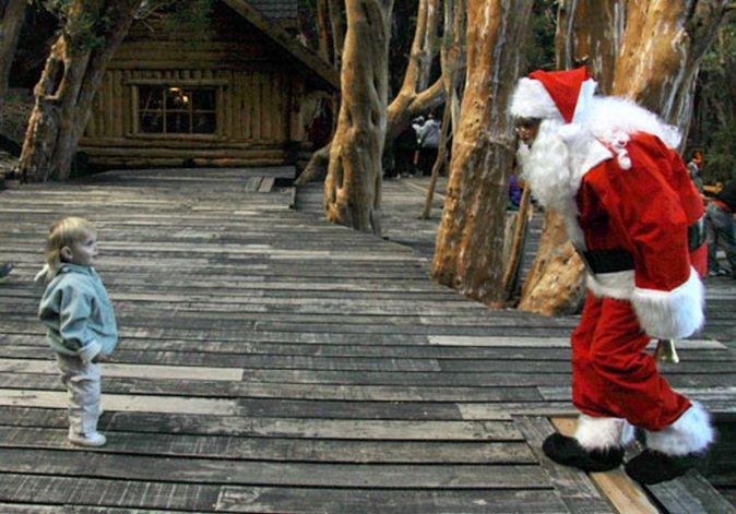 Las fiestas se viven también en parques nacionales de la Patagonia con la visita de Papá Noel.