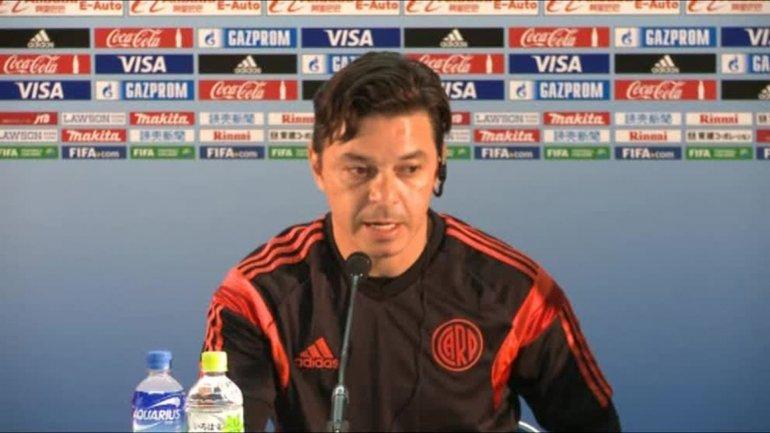 Marcelo Gallardo destacó la jerarquía del Barcelona.