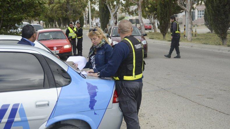 Los controles de ayer se hicieron en Constituyentes y Chile y en la avenida Maíz