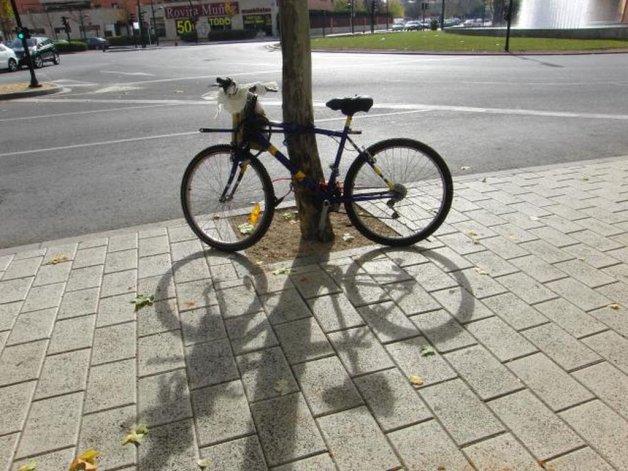 Delincuente saqueó una casa en bicicleta