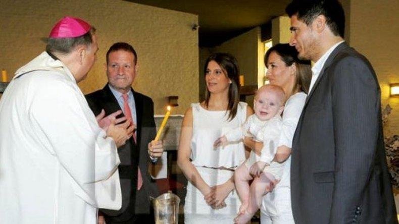 Guillermo Andino bautizó a su hijo Ramón