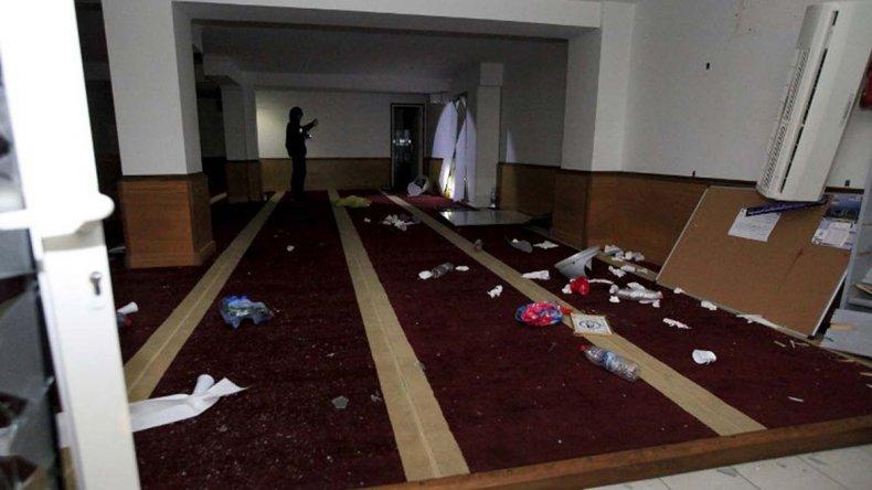 El viernes la mezquita fue el centro del ataque en Ajaccio