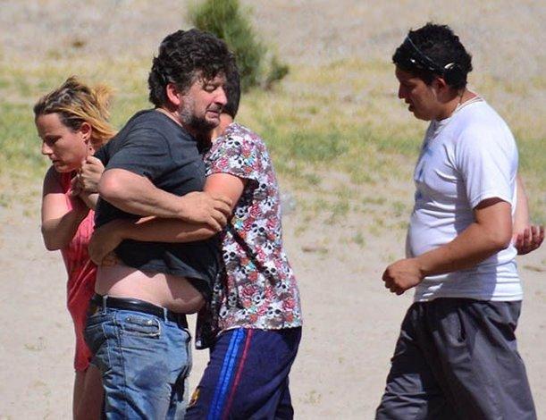 Anoche se buscaba el cuerpo del joven con apoyo de GEOP y Bomberos. Foto: Jornada