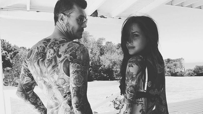 De tal palo, tal astilla: Tinelli y su hija Candelaria mostraron sus tatuajes