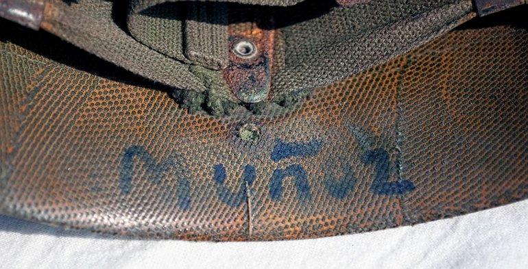 La historia del casco empezóen 1982 cuando llegó a Malvinas en el buque Bahía de los Estados