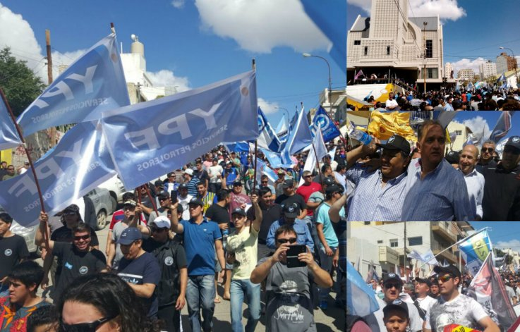 Marcha petrolera en defensa del trabajo y de la familia: queremos volver a trabajar en paz