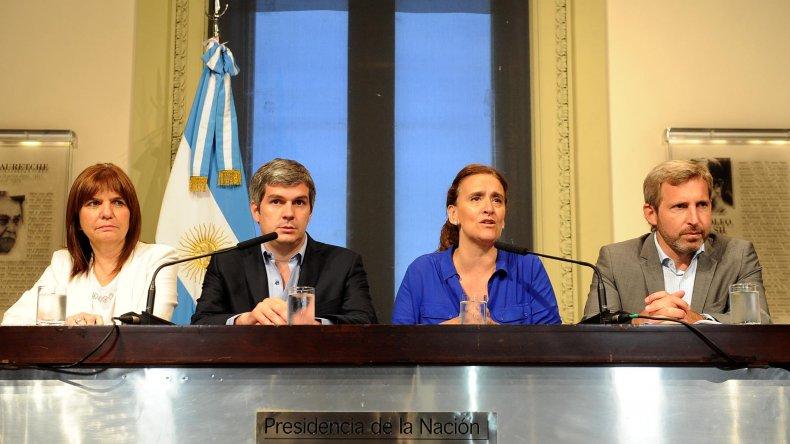 Conferencia de prensa de la vicepresidenta Gabriela Michetti.