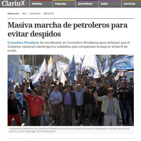 Mirá la repercusión de la marcha petrolera en medios nacionales