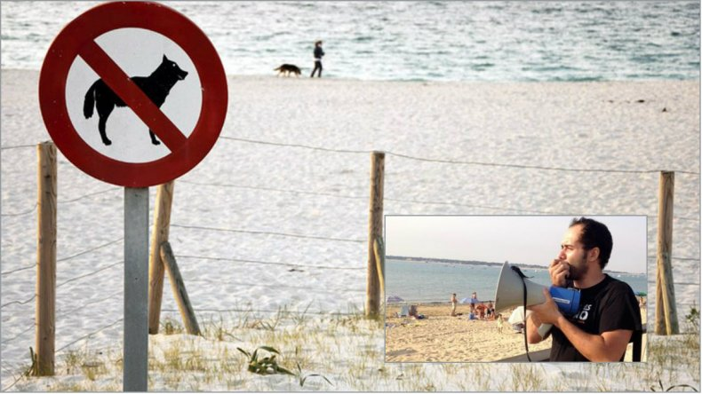 Escracharán con un megáfono a quienes paseen perros en la playa