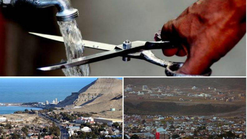 Nuevo corte de agua en Comodoro y Rada Tilly