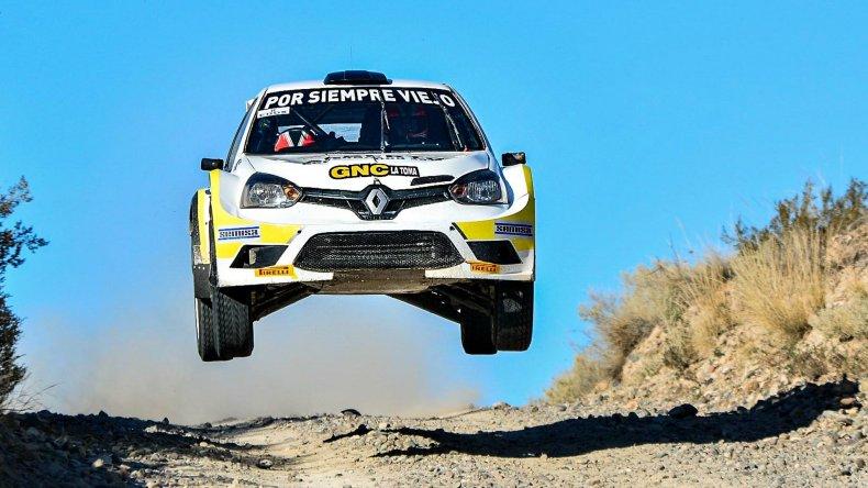 El auto que condujo Federico Bassi en el campeonato Argentino de Rally.