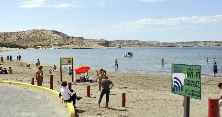 Puerto Pirámides y Playa Unión ya cuentan con sus puntos de Wi Fi gratis.