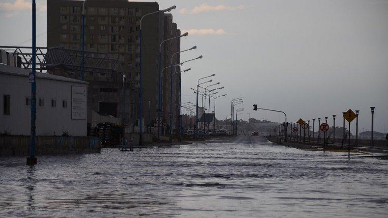 La tormenta que manchó el comienzo del año en Comodoro