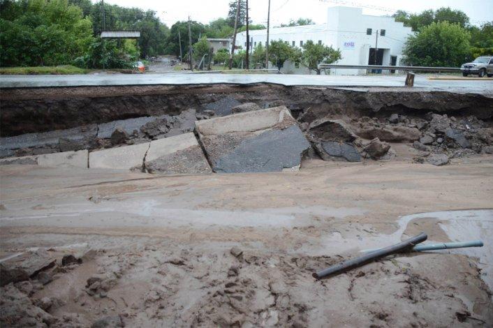 Temporal de lluvia y viento en las sierras chicas de Córdoba