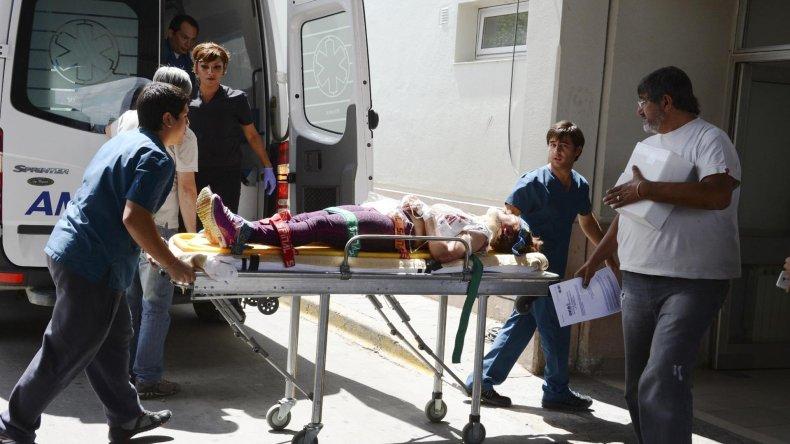 Lidia Arce fue trasladada al Hospital Zonal de Caleta Olivia a raíz de las lesiones que sufrió.